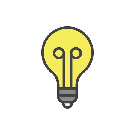 Illustration of light bulb Stock fotó