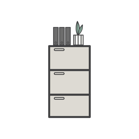 Illustration of office cabinet icon Фото со стока