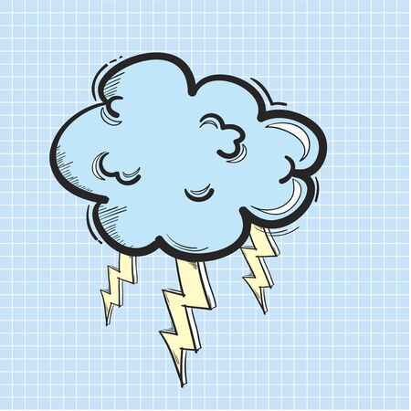 Illustration of thunder cloud icon Stock fotó