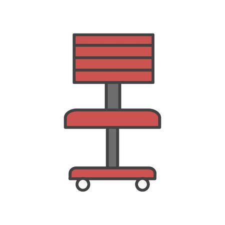 Illustration of office chair icon Stock Photo