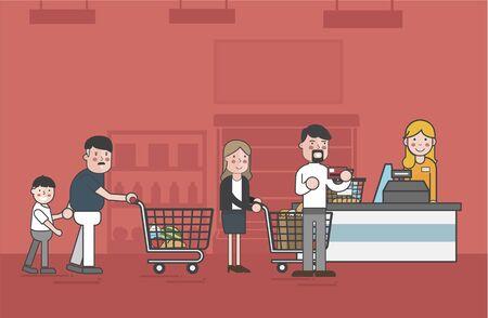 Illustration of supermarket Banco de Imagens - 96798885