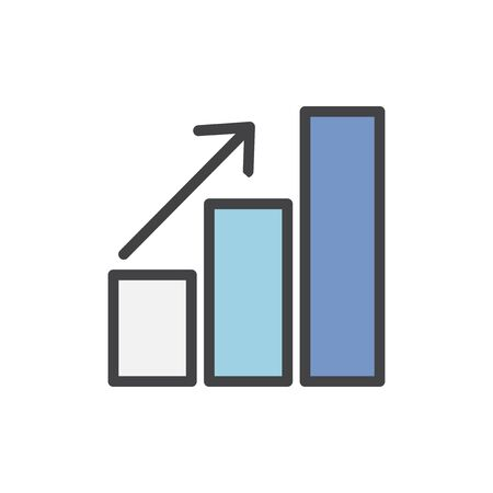 Illustration of data analysis graph Stock Illustration - 96798966