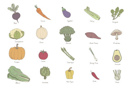 Collection of vegetables Stockfoto