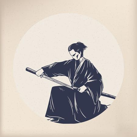 Japanese tradition style Illustration