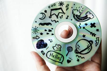 Closeup of painting CD