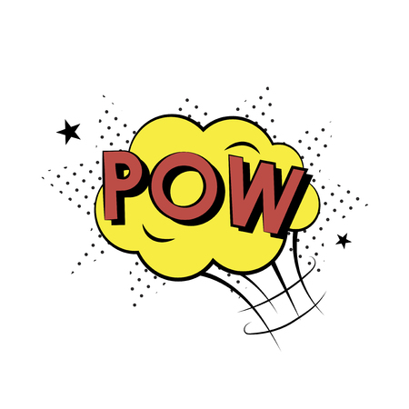 Pow comic speech concept Archivio Fotografico - 115994561