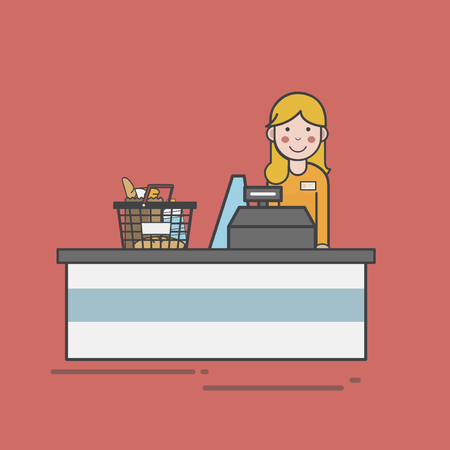 Illustration of supermarket Imagens - 96798170