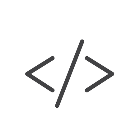 HTML coding concept Stock Photo
