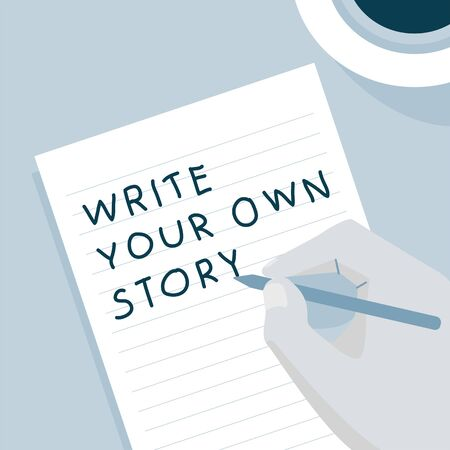 'Write your own story' illustration Banco de Imagens - 96798077