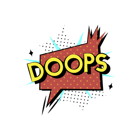 Doops comic speech concept
