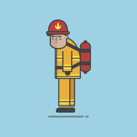 Illustration of fire fighter Stock fotó