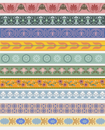 Vintage patterns inspired by The Grammar of Ornament