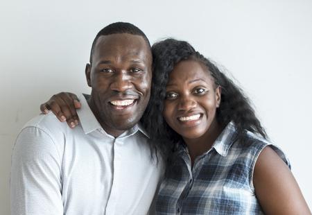 A cheerful black couple protrait Stock Photo