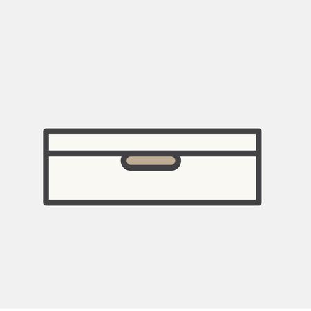 Illustration du tiroir de documents Banque d'images - 96572691