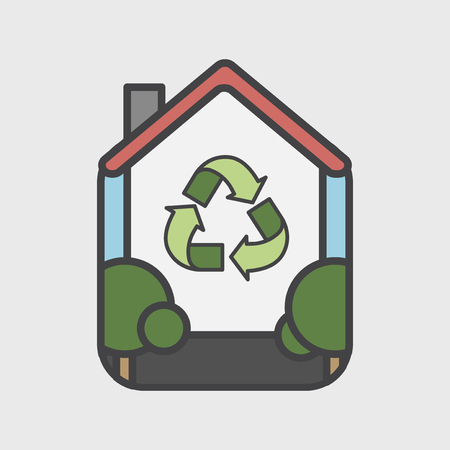 Illustration of environmental concept Stok Fotoğraf - 96572694