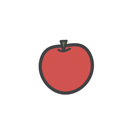 Illustration of fruit icon Фото со стока - 96572695