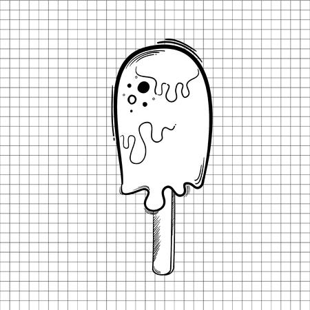 Illustration ice cream isolated on background