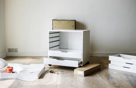 Cabinet installation DIY Stok Fotoğraf