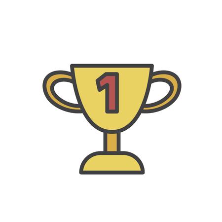 Illustration of trophy  Banco de Imagens