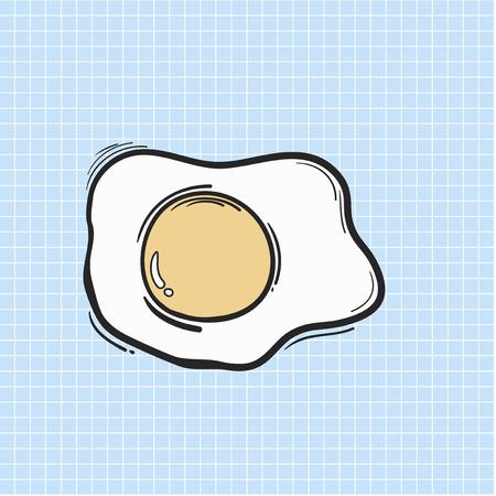 Illustration fried egg isolated on background Stockfoto - 96572179
