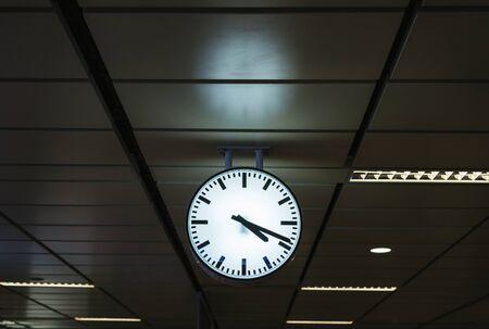 駅の時計 写真素材