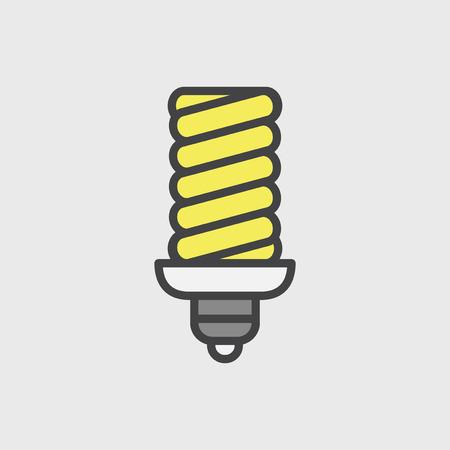 Illustration of light bulb Stok Fotoğraf