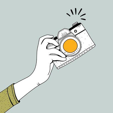 Illustration of vintage camera