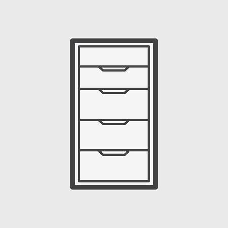 Illustration de l'icône de l'armoire de bureau Banque d'images - 96682846