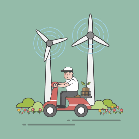 Illustratie van milieu concept