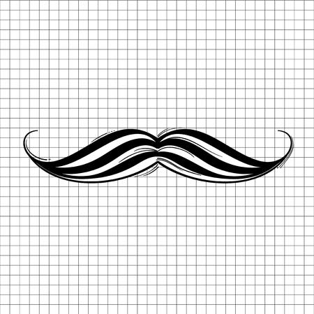 Illustration of mustache icon