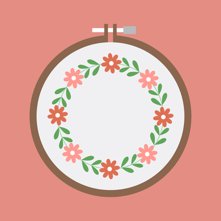 illustration of embroidery Stock Photo