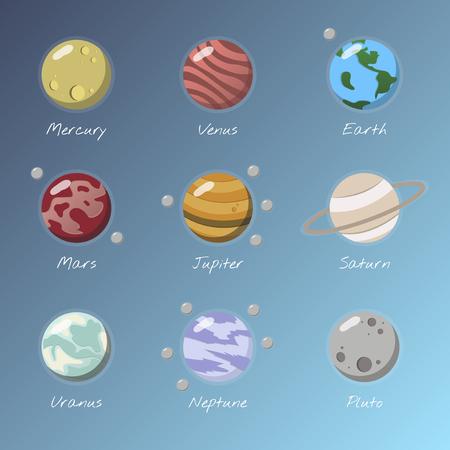Illustration of solar system Archivio Fotografico