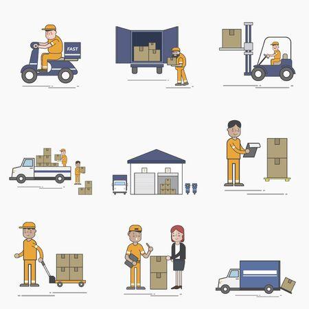 Illustration of logistics service Stok Fotoğraf - 96682864