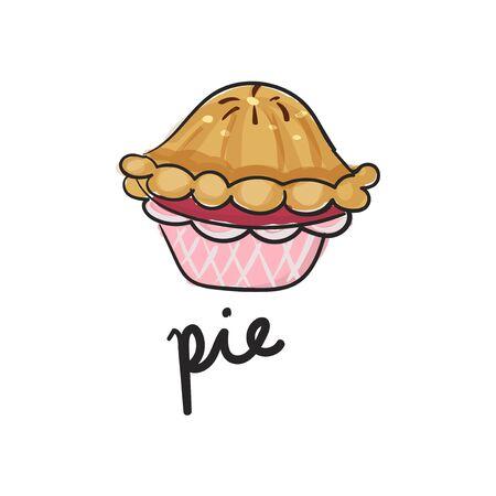 Illustration of pie dessert