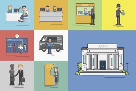 Illustration of bank  Stok Fotoğraf
