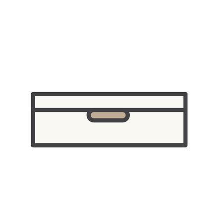Illustration du tiroir à documents Banque d'images - 96682876