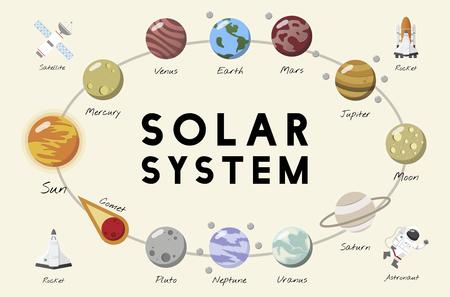 Il vettore del sistema solare Archivio Fotografico - 96682880