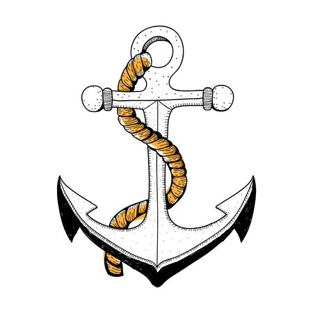 Doodle of anchor Banque d'images
