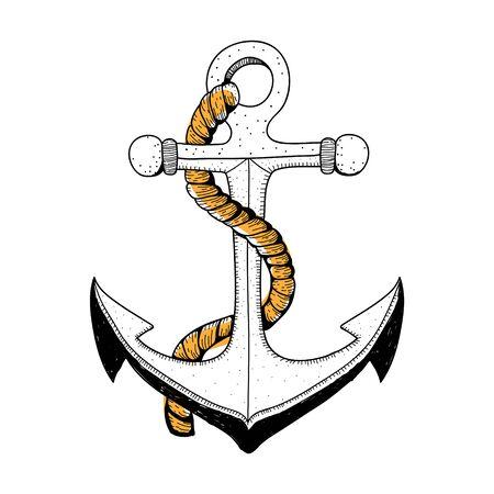 Doodle of anchor Archivio Fotografico