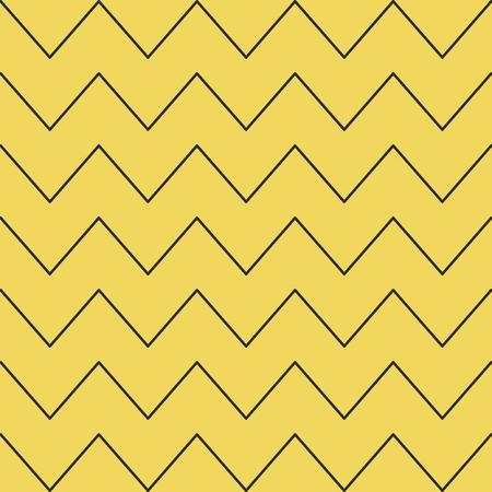 様々なラインとジグザグのシームレスなパターン