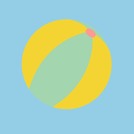 Beach ball concept Stockfoto