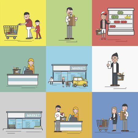 Illustration of supermarket Imagens - 96682910