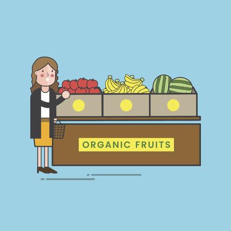 Illustration set of supermarket Foto de archivo - 96682978