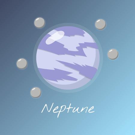 Planet Neptune concept Фото со стока