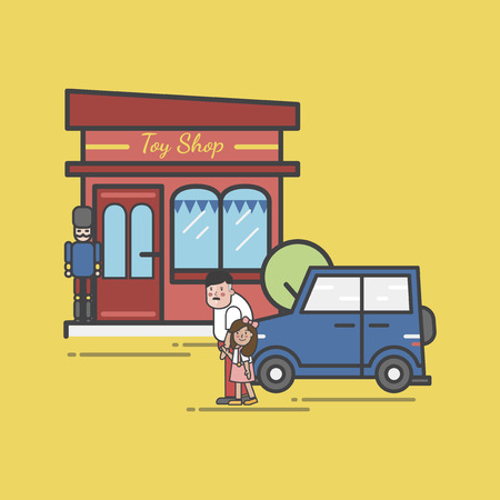 Illustration of toy store 스톡 콘텐츠 - 96682999