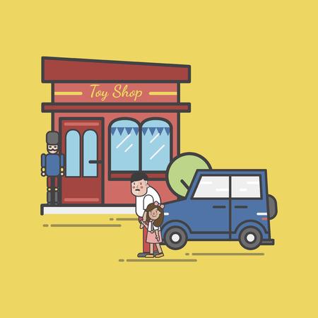 Illustration of toy store Zdjęcie Seryjne - 96682999