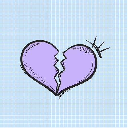 Illustration of heart broken icon