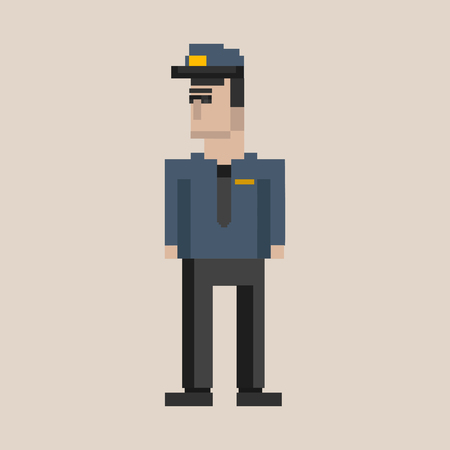 Pixelated character concept