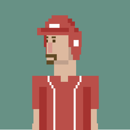 Pixelated baseball player concept Banco de Imagens