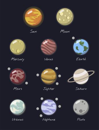 Illustration of solar system Banco de Imagens